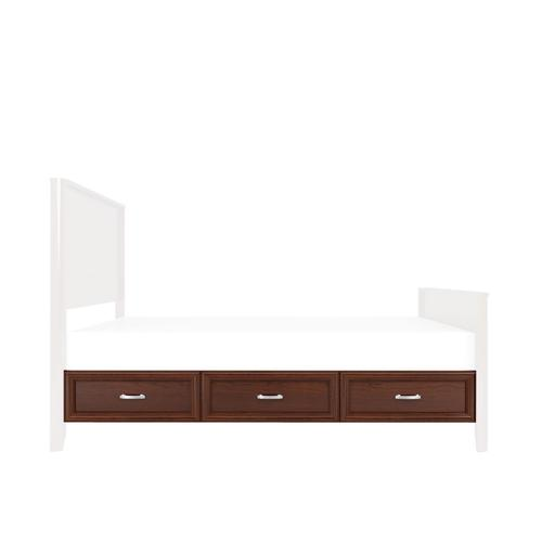 Belvedere 2-Drawer Under-Bed Storage, Two Drawers Single Side Only, fits Twin
