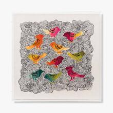 Birds OF A Feather Beige Wall Art