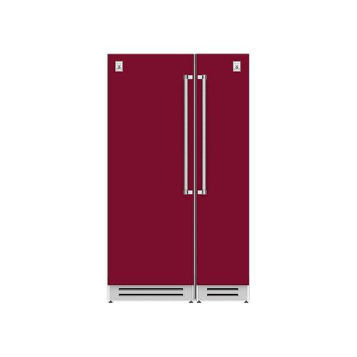 "Hestan - 48"" Column Refrigerator (L) and Freezer ® Ensemble Refrigeration Suite - Tin-roof"