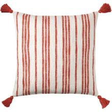 Grain Sack Pillow, RED, 22X22