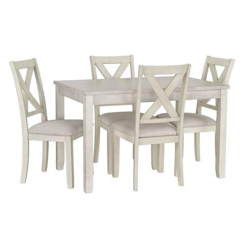 Standard Furniture - Sandpiper Small White Dining Table Set