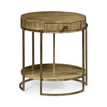 Chestnut Round Side Table