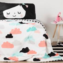 Dreamit - Night Garden Comforter and Pillowcases, Black and White, Full