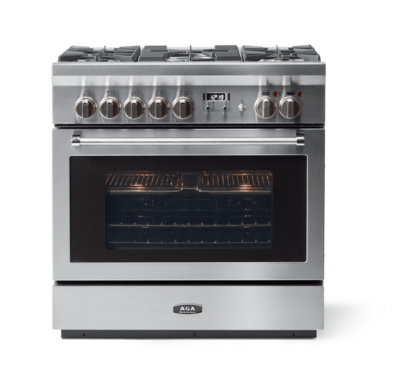 """AGAAga 36"""" Professional Dual Fuel, Stainless Steel"""