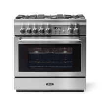 """See Details - AGA 36"""" Professional Dual Fuel, Stainless Steel"""