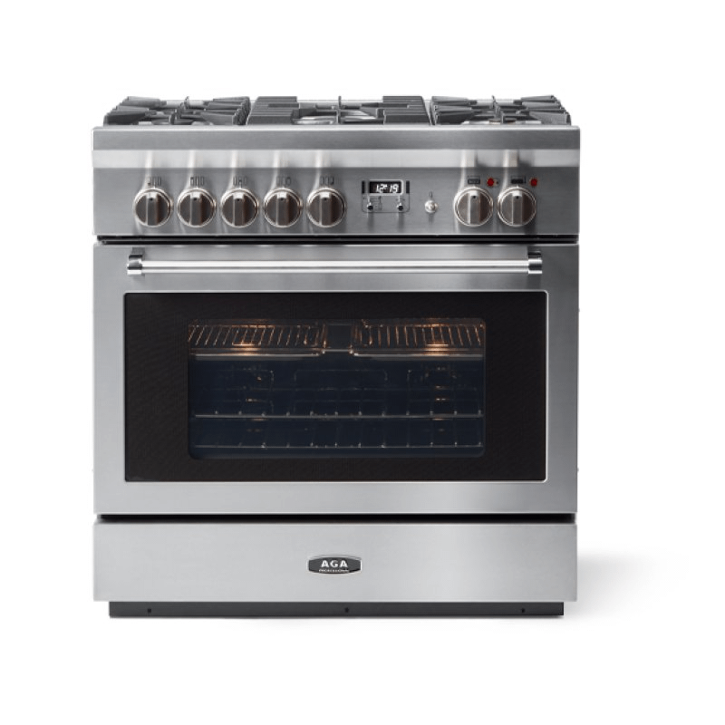"""AGA 36"""" Professional Dual Fuel, Stainless Steel"""