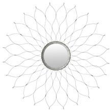 See Details - Flower Mirror - Silver