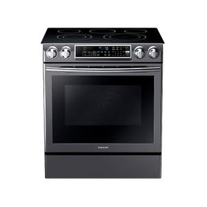 Samsung Appliances5.8 cu. ft. Slide-in Electric Range with Dual Convection in Black Stainless Steel