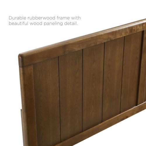 Modway - Robbie Full Wood Headboard in Walnut