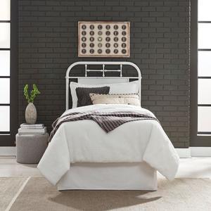 Liberty Furniture Industries - Full Metal Headboard - Antique White