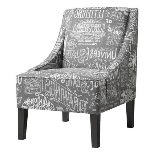 Upholstered Arm Chair Chalkboard Shadow