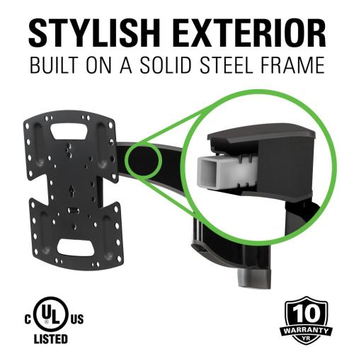 "Black Premium Full Motion TV Wall Mount for 19""-40"" TVs"