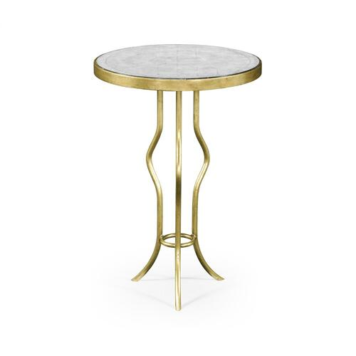 glomise & Gilt Iron Round Wine Table