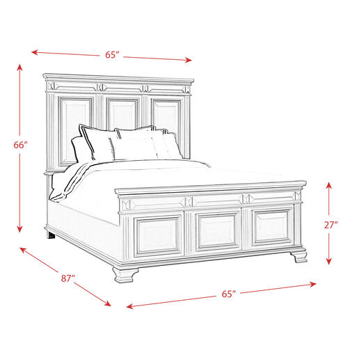 Calloway Queen Panel Bed in Grey