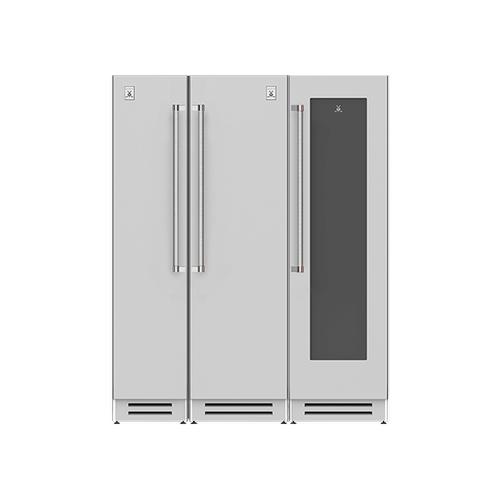 "Hestan - 66"" Column Freezer (L), Refrigerator and Wine Cellar ® Ensemble Refrigeration Suite - Steeletto"