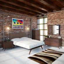 See Details - Tracy 5 Piece Queen Bedroom Set in Cappuccino Brown