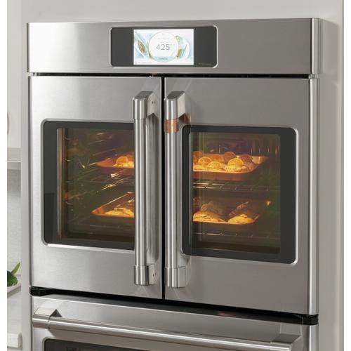 """Cafe - Café™ Professional Series 30"""" Smart Built-In Convection French-Door Single Wall Oven"""