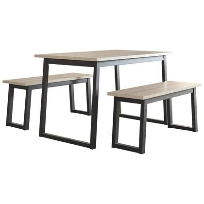 Waylowe Dining Table and Benches (set of 3)