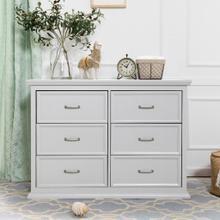 See Details - Cloud Grey Foothill-Louis 6-Drawer Dresser