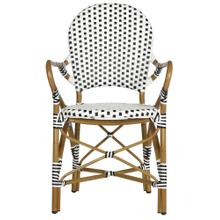 Hooper Indoor - Outdoor Stacking Armchair - Black / White
