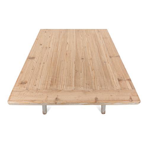 Sawhorse Desk, Distressed Grey