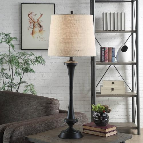 Chimney  37in Traditional Classic Metal Table Lamp  150W  3-Way
