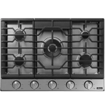 "DacorTransitional 30"" Gas Cooktop, Graphite Stainless Steel, Natural Gas/Liquid Propane"