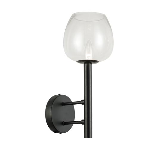 1lt Incandescent Wall Sconce, Mb W/ Clr Glass