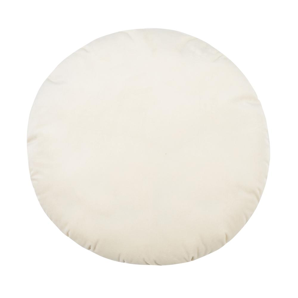 "Potter 20"" Cream Velvet Pillow"