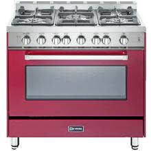 "36"" Gas Single Oven Range Burgundy 4"" B/G"
