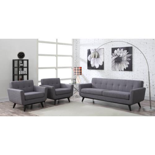 Tov Furniture - James Grey Linen Chair