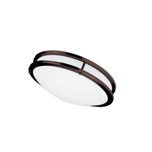 "Product Image - Ceiling Flush 18w 310mm (12""), Bronze"