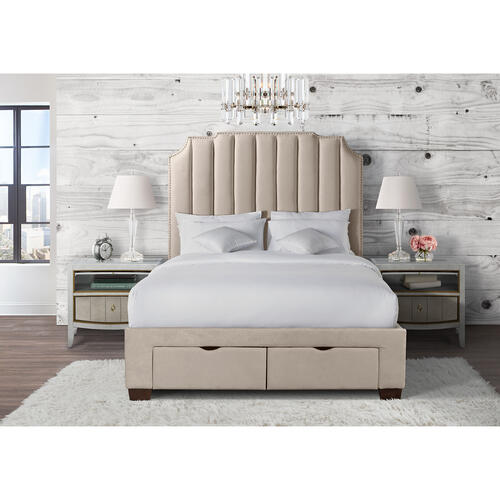 Harper Queen Upholstered Storage Bed