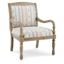 Upholstered Seat and Back Accent Chair, Natural