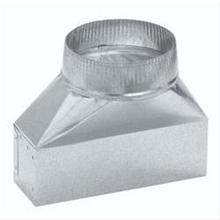 """View Product - 3-1/4"""" X 10"""" to 8"""" Round Transition; Vertical Discharge"""