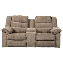 Workhorse Reclining Loveseat With Console