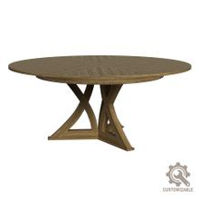 See Details - Casual Jupe Dining Table, Unfinished,Med