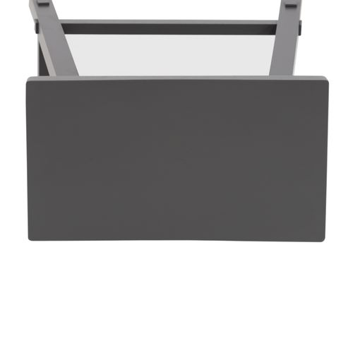 24 Inch Sawhorse Counter Stool- Gray