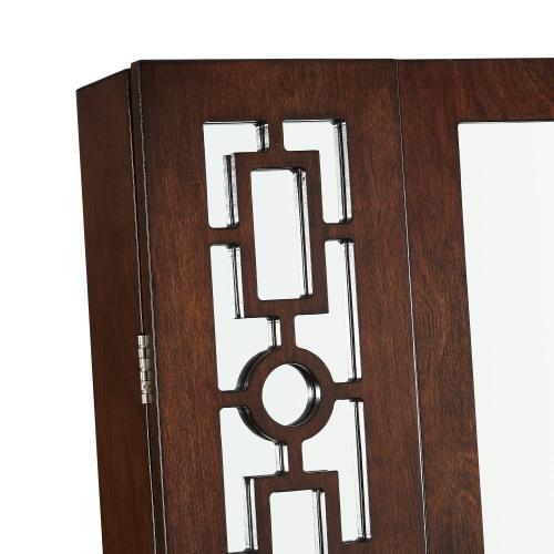 6-drawer and 16 Necklace Hooks Cheval Mirror, Cherry