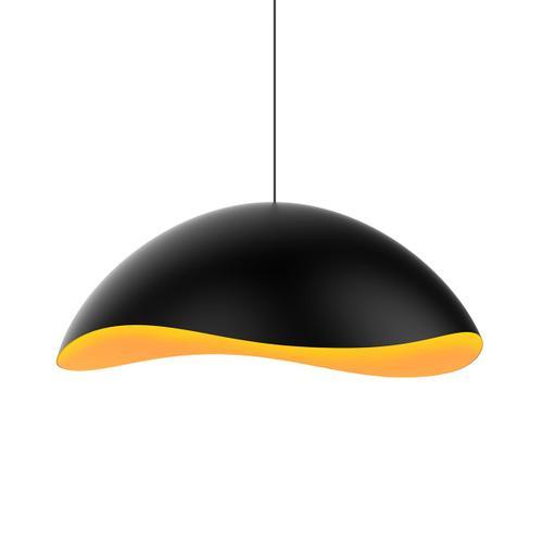 Sonneman - A Way of Light - Waveforms Dome LED Pendant [Size=Small, Color/Finish=Satin Black w/Satin White Interior]
