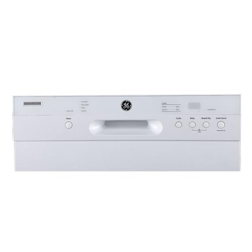 "GE 24"" Built-In Front Control Dishwasher with Stainless Steel Tall Tub White - GBF412SGMWW"