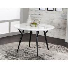 "CR-545-4147  48"" Round Dining Table  Black and White"