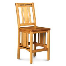 """Aspen Stationary Barstool with Inlay, 24"""" Seat Height"""