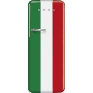 "Smeg24"" retro-style fridge, Italian flag, Right-hand hinge"