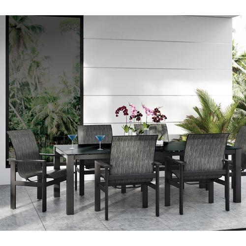"44"" x 110"" Rectangular Balcony Table (no Hole) Ht: 34"" Post Aluminum Base (Model # Includes Both Top & Base)"