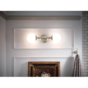 Colinet brushed nickel bath light