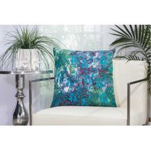 """Outdoor Pillows Ti772 Multicolor 20"""" X 20"""" Throw Pillow"""