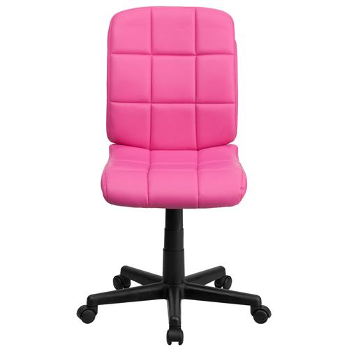 Gallery - Mid-Back Pink Quilted Vinyl Swivel Task Office Chair