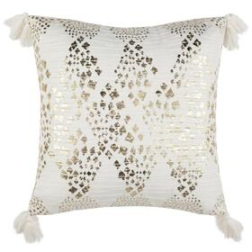 Remni Pillow - White / Gold
