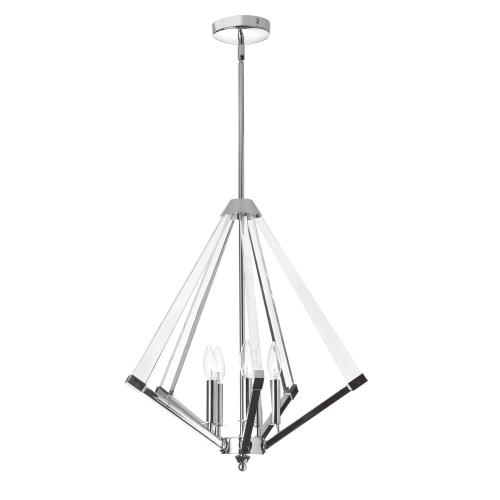 Product Image - 5lt Chandelier Polished Chrome With Acrylic Arms